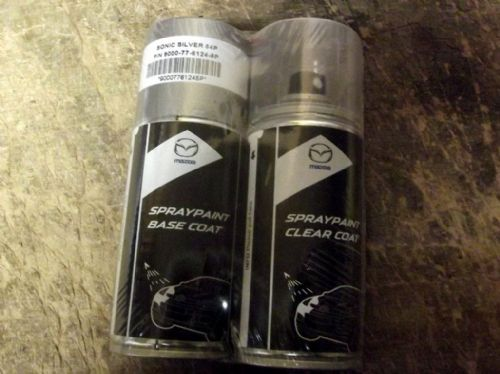 Paint spray kit, genuine Mazda, 45P, Sonic Silver